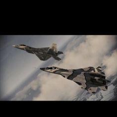 F-22 Raptor /w PAK-FA