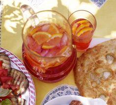 Campari & soda: 1 part campari, 2 parts soda, orange slice