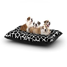 """Project M """"British Mosaic Black"""" Dog Bed from KESS InHouse"""