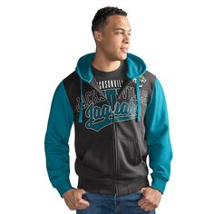Officially Licensed NFL Contrast Hoodie and Tee Combo by Glll - Jaguars