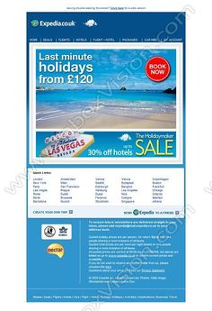 Company:    Expedia.co.uk    Subject:    Last minute holidays from             INBOXVISION is a global database and email gallery of 1.5 million B2C and B2B promotional emails and newsletter templates, providing email design ideas and email marketing intelligence http://www.inboxvision.com/blog  #EmailMarketing #DigitalMarketing #EmailDesign #EmailTemplate #InboxVision