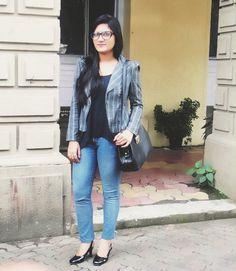 Plaided - plaid jacket ,zara jeans , charlotte russe tank top , #styllogue