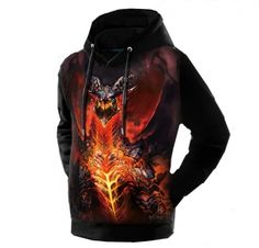 World of Warcraft Neltharion 3D hoodie for men plus size
