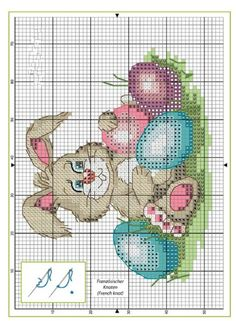 ru / Photo # 150 - Bunnies and Seals - BlueBelle Cross Stitch Love, Cross Stitch Animals, Cross Stitch Kits, Cross Stitch Charts, Cross Stitch Designs, Cross Stitch Patterns, Cross Stitching, Cross Stitch Embroidery, Easter Cross