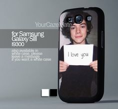 Harry Styles I Love You For Samsung Galaxy S3 Hard Plastik Black Case | YourCazeMate - Accessories on ArtFire