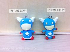 How to Make a Clay Captain America. Step by step tutorial