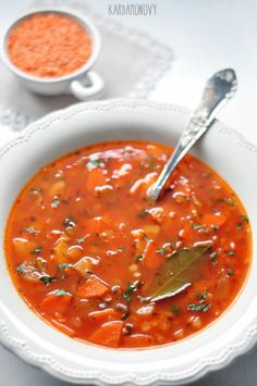Soup Recipes, Healthy Recipes, Healthy Foods, Polish Recipes, Polish Food, Special Recipes, Eating Well, Curry, Food And Drink