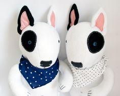 Bull Terrier, soft art toy by entala, via Behance