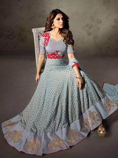 Designer New Collection ethnic Resham & Zari work Floor Length Anarkali Suit #Shoppingover #SalwarKameez #WeddingPartyWear