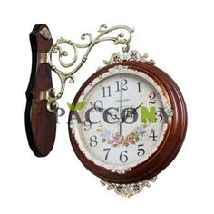 quartz wall clock with double faces