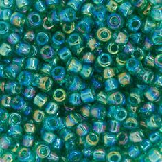 Size 8 Transparent Sea Green AB Round Japanese Seed Bead | Fusion Beads