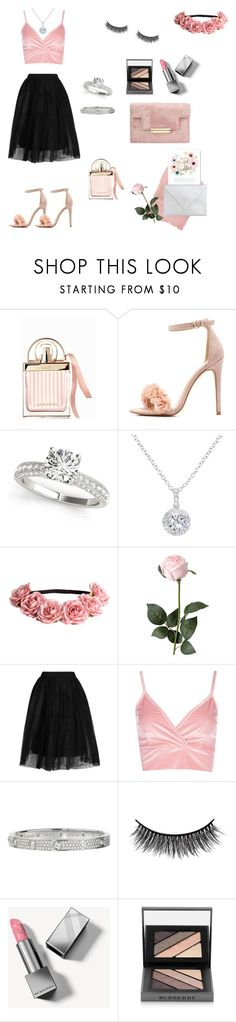 """a Wedding Look🌸💍"" by stylebyceylin ❤ liked on Polyvore featuring Chloé, Rothko, Charlotte Russe, EWA, H&M, Topshop, Boohoo, Cartier, Battington and Burberry"