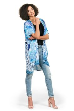 48cad1998c Kimono by Kalisi, inspired by New Zealand, Maori culture, yoga and the ocean