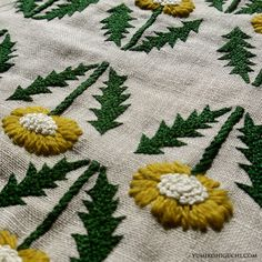 Dandelion embroidery by yumiko higuchi.  So simple and lovely; one of my favorite shapes...