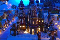 Every year the Gingerbread City (Pepperkakebyen) is created in Bergen, Norway.  The link also ha a video of the making. Copyright © Bergen Reiselivslag/Gjertrud Coutinho - visitBergen.com