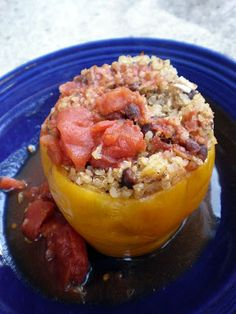 Slow-Cooker Quinoa Stuffed Peppers...looks yummy!