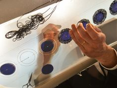 Haute Couture behind the scenes - hand-embellished beaded appliqué being made for a couture dress - fashion atelier // Dior
