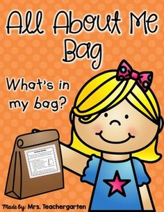 All About Me Bag This is a fun and easy way to get to know your students and for your students to get to know one another. Make copies for each student and attach to a paper lunch bag. Explain the assignment before sending home to students and share your First Day Of School Activities, 1st Day Of School, Beginning Of The School Year, I School, Back To School, School Stuff, Sunday School, Preschool Lessons, Preschool Classroom