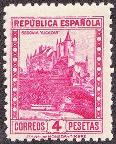Alcazar de Segovia. Republica Española 1932