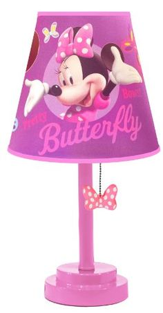 Another great find on Minnie Mouse 'Butterfly' Table Lamp by Minnie Mouse Minnie Mouse House, Minnie Mouse Kitchen, Minnie Mouse Nursery, Mickey Minnie Mouse, Kids Toy Shop, Toy Cars For Kids, Kids Store, Toys For Girls, Disney Princess Room