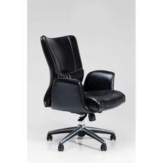 Καρέκλα Γραφείου Boss Black Μία άνετη και αναπαυτική καρέκλα γραφείου, με επένδυση δερματίνης (PU) και μεταλλικό σκελετό. Chair, Business, Furniture, Home Decor, Decoration Home, Room Decor, Home Furnishings, Stool, Store