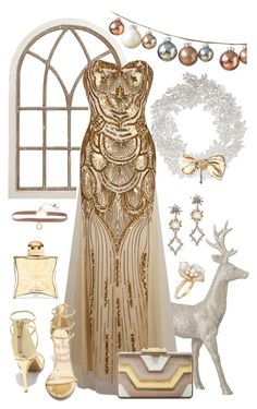 """""""Golden"""" by wowstyle ❤ liked on Polyvore featuring Pier 1 Imports, Ross-Simons, Lulu Frost, Anne Michelle, Anna Kompaniets, Hermès, BCBGMAXAZRIA and Lonna & Lilly"""
