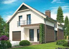 Plano de casa moderna con ladrillo visto de 3 dormitorios