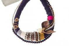 Mumbai necklace in blue | Charlotte Hosten