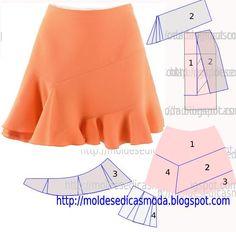 Zajímavá sukně | modelace základního střihu | es