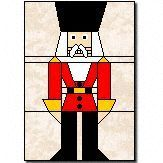 Nutcracker quilt block - paper piecing - free pattern pieces with some instructions
