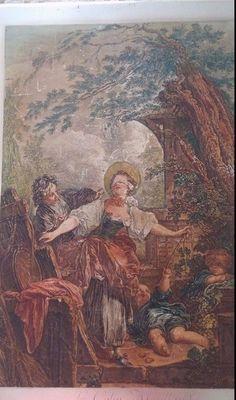 EARLY 1800'S  RARE JEAN H FRAGONARD ETCHED STEEL PLATE ORIGINAL BLIND MANS BLUFF