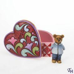 "Jim Shore Bennet B. Lovinyou's Keepsake Heart ""Love so Sweet"" Mini Heart Box with Bear Figurine. #JimShore #Statue #Sculpture #Decor #Gift #gosstudio .★ We recommend Gift Shop: http://www.zazzle.com/vintagestylestudio ★"