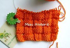 Ponto de tricô. Receita na página:  https://www.facebook.com/paginamiauatelier #artesanato