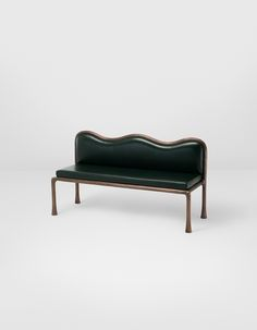 SHAARI banquette<br />Patinated textured bronze, upholstery<br x x cm Sofa Bench, Bench Furniture, Steel Furniture, Home Furniture, Furniture Design, Take A Seat, Love Seat, Decoration, Home And Living