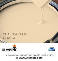 CHAI TEA LATTE OL652.3 is a part of the yellows collection by Olympic® Paint.