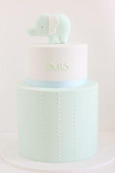2 tiered pastel sugarpaste new baby cake. #sugarcraft #baking #cakes