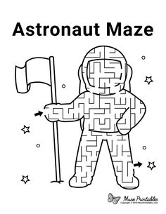 Space Activities For Kids, Activity Sheets For Kids, Mazes For Kids, Worksheets For Kids, Science For Kids, Book Activities, Preschool Activities, Astronaut Craft, Printable Mazes