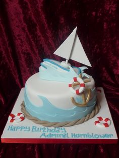 Wedding & Birthday Cakes by Lynsey · Gallery Cakes For Women, Cakes For Boys, Titanic Cake, Nautical Cake, Nautical Party, Masculine Cake, Boat Cake, Dad Birthday Cakes, Cookie Tutorials