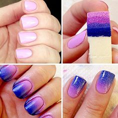 Manicure Print Tool DIY DZT1968 Nail Art Sponges Stamping Polish Template Transfer Manicure DIY Tool *** Want to know more, click on the image. Note:It is Affiliate Link to Amazon.