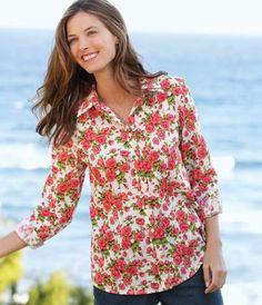 Rosebud Floral Shirt, Large Orvis. $34.00. Save 42% Off!