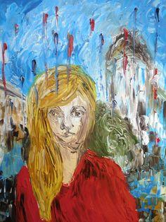 "Saatchi Online Artist: mel deo; Oil, 2010, Painting ""portrait (barcelona)"""