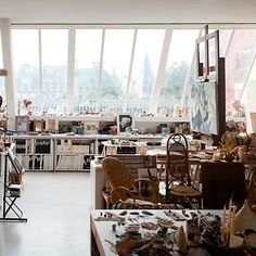 Roseland Greene: Beautiful studio. Inspiration for atrium.