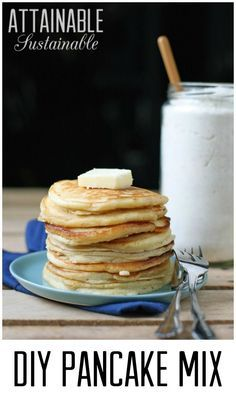 Pancakes are a breakfast favorite, but store-bought baking mix is loaded with unhealthy ingredients. Instead, try this DIY homemade pancake mix.