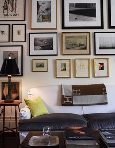 thank you- I'm so tired of frames having to match-each piece of art should be framed to it's best advantage-this wall illustrates a life of collecting pieces which mean something-not things to fill a wall