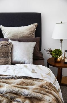 Home Beautiful Style Challenge with Bed Bath N' Table - Winter's Dream Meet Santa, Santa Fe, Style Challenge, Black Decor, Bedroom Decor, Bedroom Ideas, Bed & Bath, Warm And Cozy, Home Goods