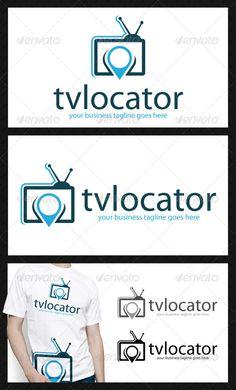 Tv Media Locator  - Logo Design Template Vector #logotype Download it here: http://graphicriver.net/item/tv-media-locator-logo/4717476?s_rank=1210?ref=nexion
