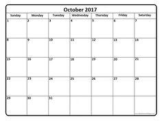 October 2017 calendar . October 2017 calendar printable