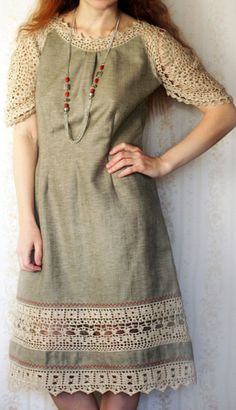 linen crochet