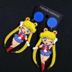 Aliexpress.com: Compre Brincos de Sailor Moon Mizuno Ami Cosplay Caráter Carton Brincos Brincos Bonitos para Meninas de confiança brincos para as meninas fornecedores em Summer Rain Jewelry