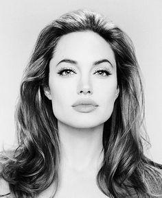 Drawing of Angelina Jolie.